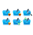 Supermarket shopping baskets vector