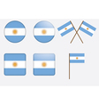 Badges with flag of argentina vector