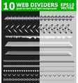 Set of 10 web page dividers vector