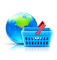 Global shopping vector