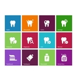 Tooth teeth icons on color background vector
