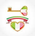 Set of symbols of italy vector