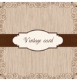 Wooden vintage postcard vector