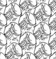 Pineapple peel seamless background sketch black vector