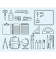 School and office supplies vector