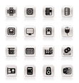 Simple computer performance and equipment icons vector