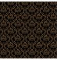 Seamless damask wallpaper 3 black golden color vector