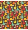 Seamless pattern with cartoon birds vector