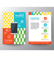 Graphic design layout with smart phone concept vector