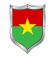 Burkina faso flag button vector