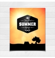 Poster summer theme healthy life style vector