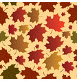 Seamless maple leaves vector