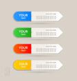 Sticker label color set vector