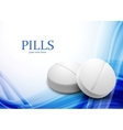 Background with pills vector