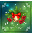 Christmas holidays frame card with decorations vector