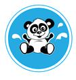 Panda bathing vector