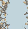 Fir pine cone seamless border vector