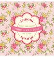 Wedding vintage invitation card - flowers theme vector