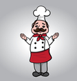 Chef with arms open vector