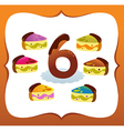 Collection sweet numbers for kids 6 vector