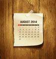 Calendar august 2014 vector