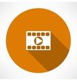 Play video icon vector