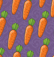 Seamless cute shiny carrots pattern vector