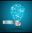 Creative light bulb with technology network vector
