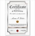 Silver detailed certificate vector