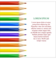 Left side border made of colorful pencils vector