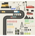 Flat design concept of ecology vector