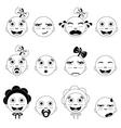 Baby face set vector