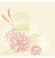 Vintage card with flowers background for you vector