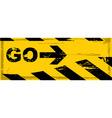 Grunge danger banner vector