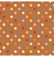 Polka dots on brown background seamless pattern vector