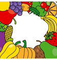 Fruits and vegetables frame vector