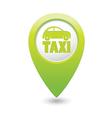 Taxi icon green map pointer4 vector