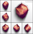 Abstract 3d polygons vector