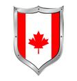 Canada flag button vector
