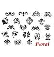 Floral ornamental elelments and vignettes vector
