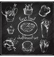 Fast food icon chalkboard vector