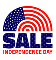 American independence day sale for your design vector