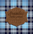 Seamless tartan pattern and label with seamless vector
