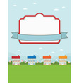 House landscape with frame vector