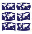 Blue and white various view on map of world eps10 vector
