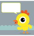 Chicken bubble talk vector