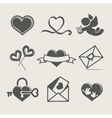 St valentines day set icon vector