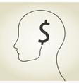 Dollar a head vector