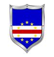 Cape verde flag button vector