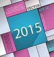 Happy new year 2015 icon symbol flat modern web vector